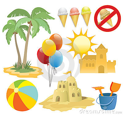 Free Summer Vacation, Design Elemen Stock Photography - 5192642