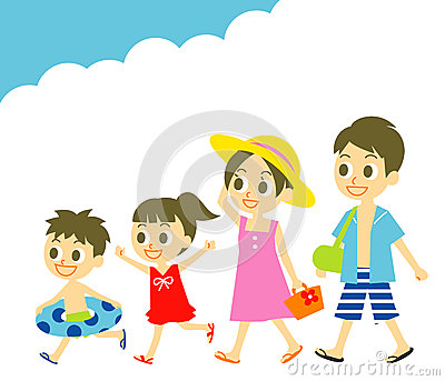 Summer vacation Family