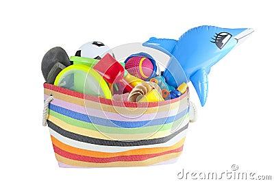 Summer vacation or holiday beach bag