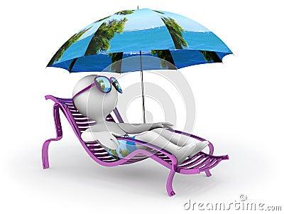 Summer vacation: seashore relaxation