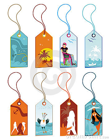 Free Summer Vacation Tags. Royalty Free Stock Images - 5836229