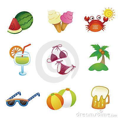 Summer vector icons