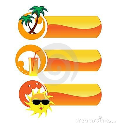 Summer vector icons.