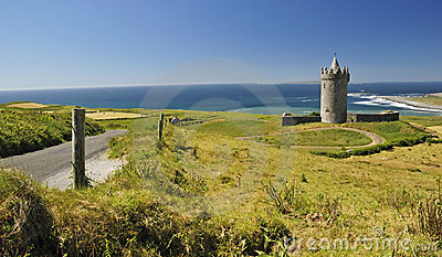Summer view for Doonagore castle