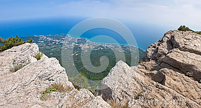 Summer view seacoast. The Crimea, Ukraine