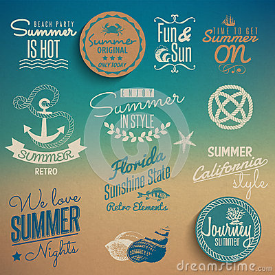 Free Summer Vintage Elements Stock Photo - 32204490