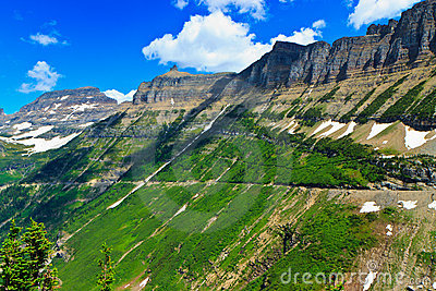 Summer vista, Garden Wall, Glacier National Park