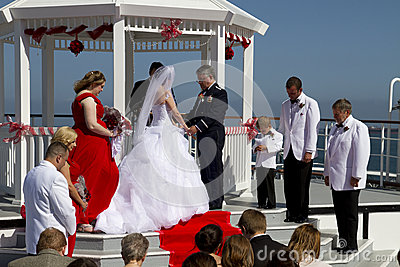 Summer Weddings Aboard Ship Editorial Stock Photo