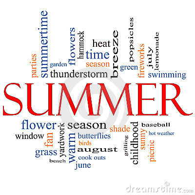 Summer Word Cloud Concept