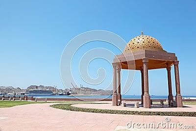 Summerhouse near sea shore in arab country