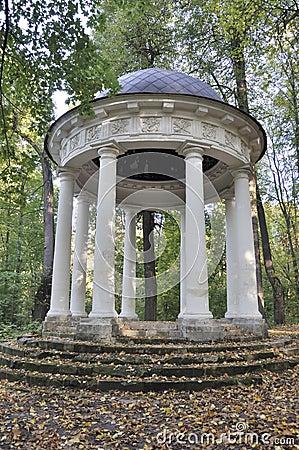 Summerhouse  Temple of Venus  in autumn park