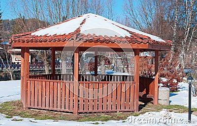 Summerhouse in winter