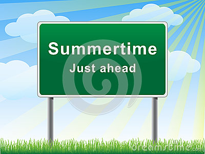 Summertime just ahead billboard.