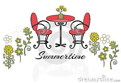 Summertime patio set