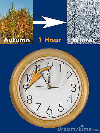 Summertime period ends (Daylight Saving Time)
