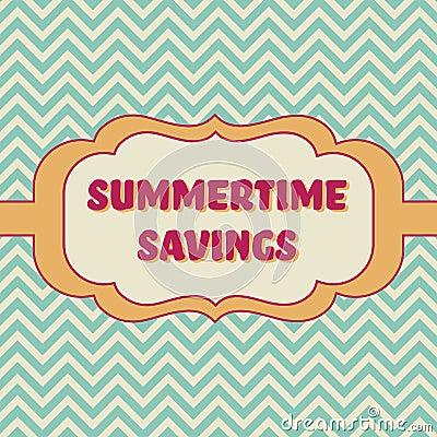 Summertime savings banner