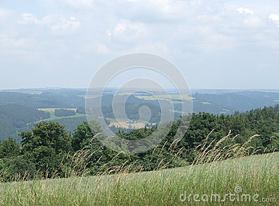 Summertime scenery in Thuringia