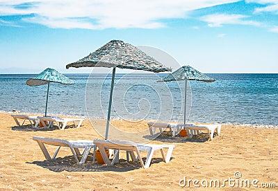 Summertime in the turkish resort.