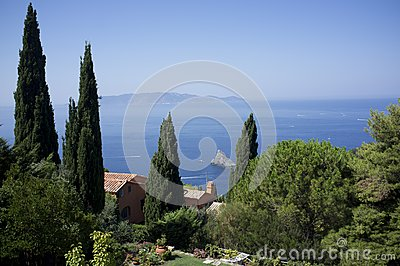 Summertime tuscany seascape