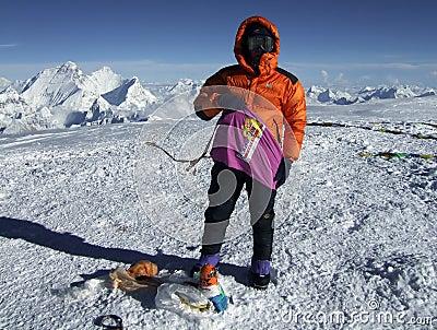 Summit, 8201m. Editorial Photography