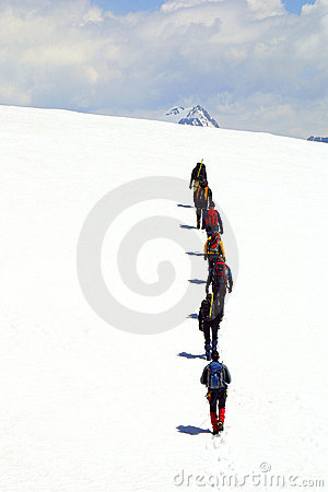 Free Summit Alpinist Group Royalty Free Stock Photography - 1902907