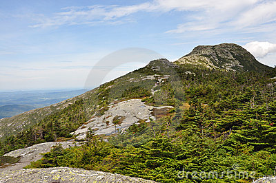 Summit of Mount Mansfield, the highest in Vermont