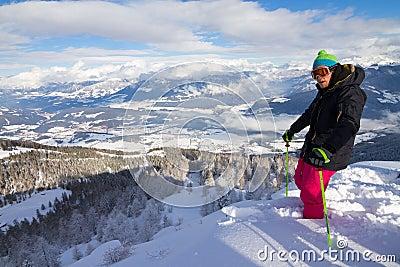 Summit skiing