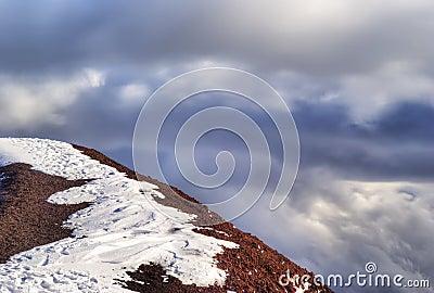 Summit of the volcano. etna