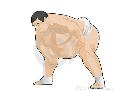 Sumo japanese wresler