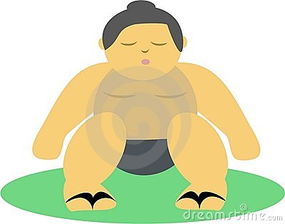 Sumo Wrestler with Chi Energy