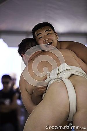 Sumo Wrestlers 24 xl Editorial Image