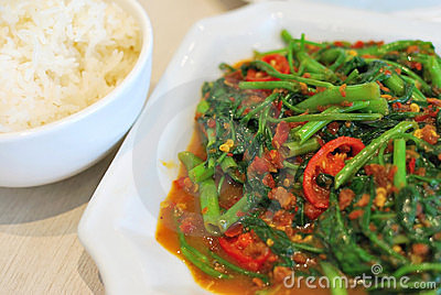 Sumptuous Chinese style spicy vegetables