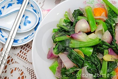 Sumptuous Chinese style vegetables