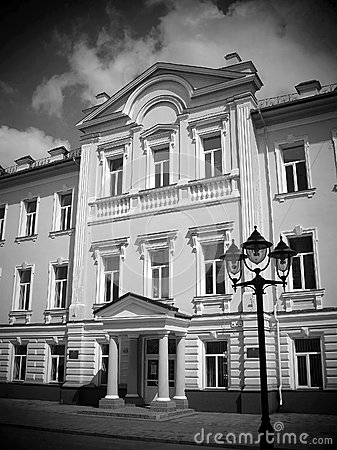 Sumy Ukrainian Academy of Banking, black and white