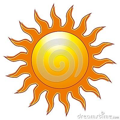 The Sun Cartoon Illustration