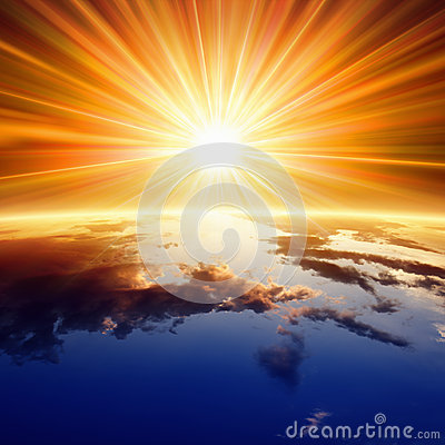 Free Sun Above Earth Royalty Free Stock Photography - 35127837