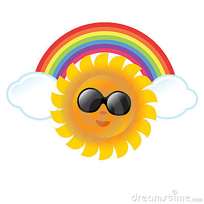 Free Sun And Rainbow Stock Photos - 10890853