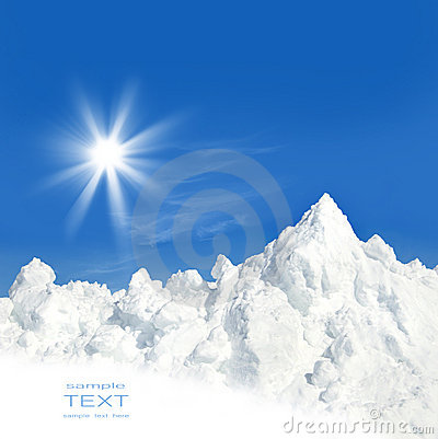 Free Sun And Snow After A Winter Storm Royalty Free Stock Images - 7270089
