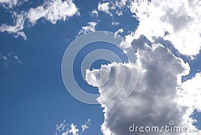 Sun backlit clouds