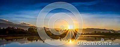 Sun Beam and Blue Sky