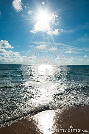 Sun beam and sea andaman