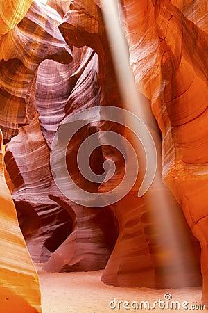 Sun Beam in Slot Canyon