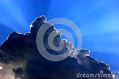The sun behind a cloud#2