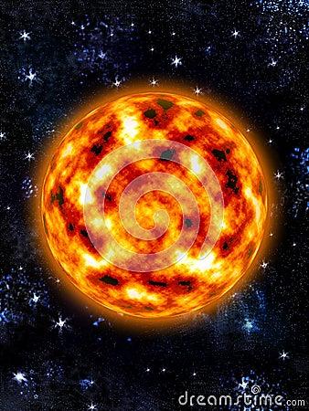 Sun - Burning planet