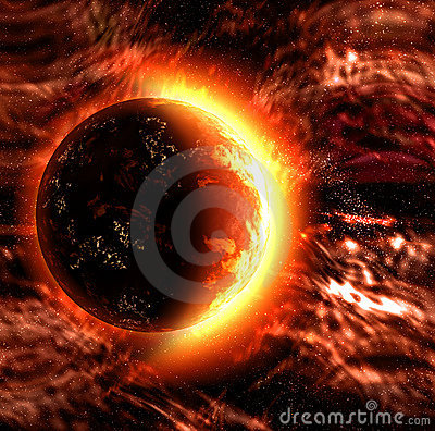 Sun or burning planet