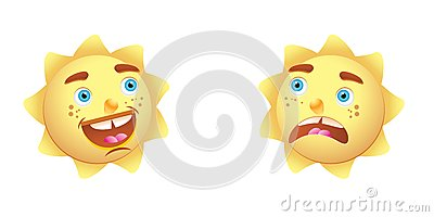 Sun cartoon character