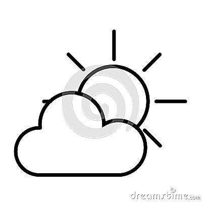 Sun and Cloud Vector Illustration