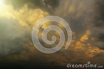 A sun among clouds