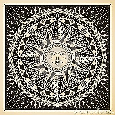 Free Sun Compass Royalty Free Stock Photos - 31580108