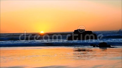Sun dancing on the ocean stock video